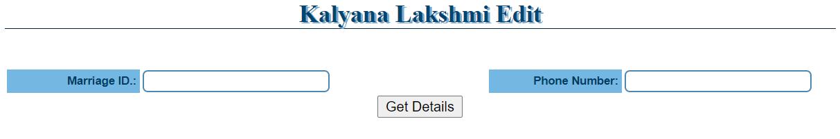kalyana laxmi edit application form