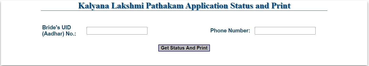 kalyana laxmi print application